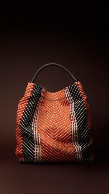 Burberry Prorsum textile rug duffle bag