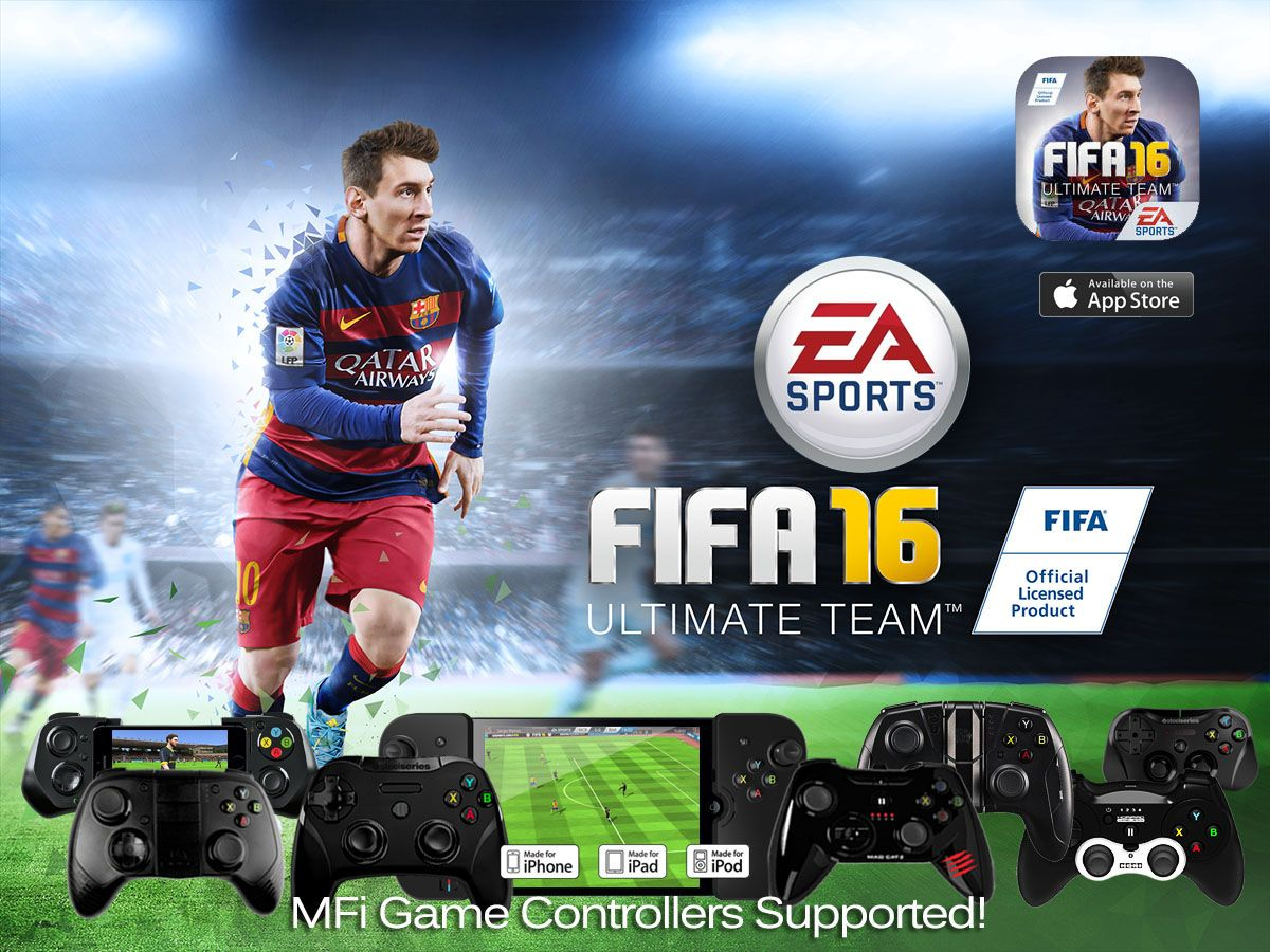 FIFA 16 released with Full MFi Controller Support, an