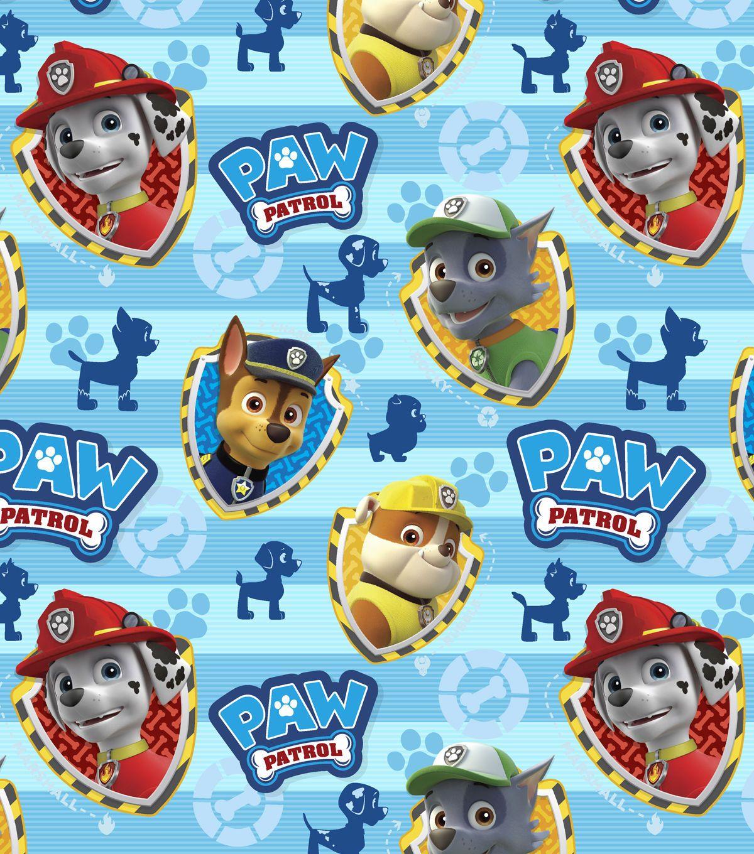 Nick Jr Paw Patrol Rescue Stripe Cotton Fabric Joann Jo Ann Paw Patrol Paw Patrol Birthday Theme Paw Patrol Stickers