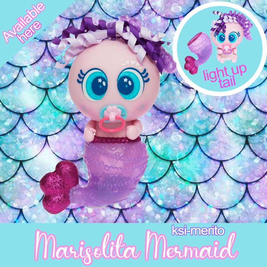 Distroller Neonate Nerlie Ksi Merito Ksi Renita Marisolita Purple Mermaid With Light Up Tail Purple Mermaid Neonatal Light Up