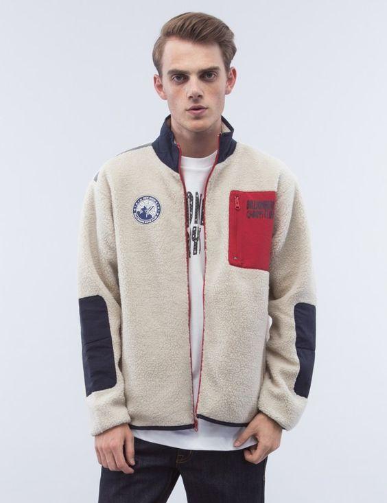 Billionaire Boys Club Sherpa Fleece Zip Through Jacket: