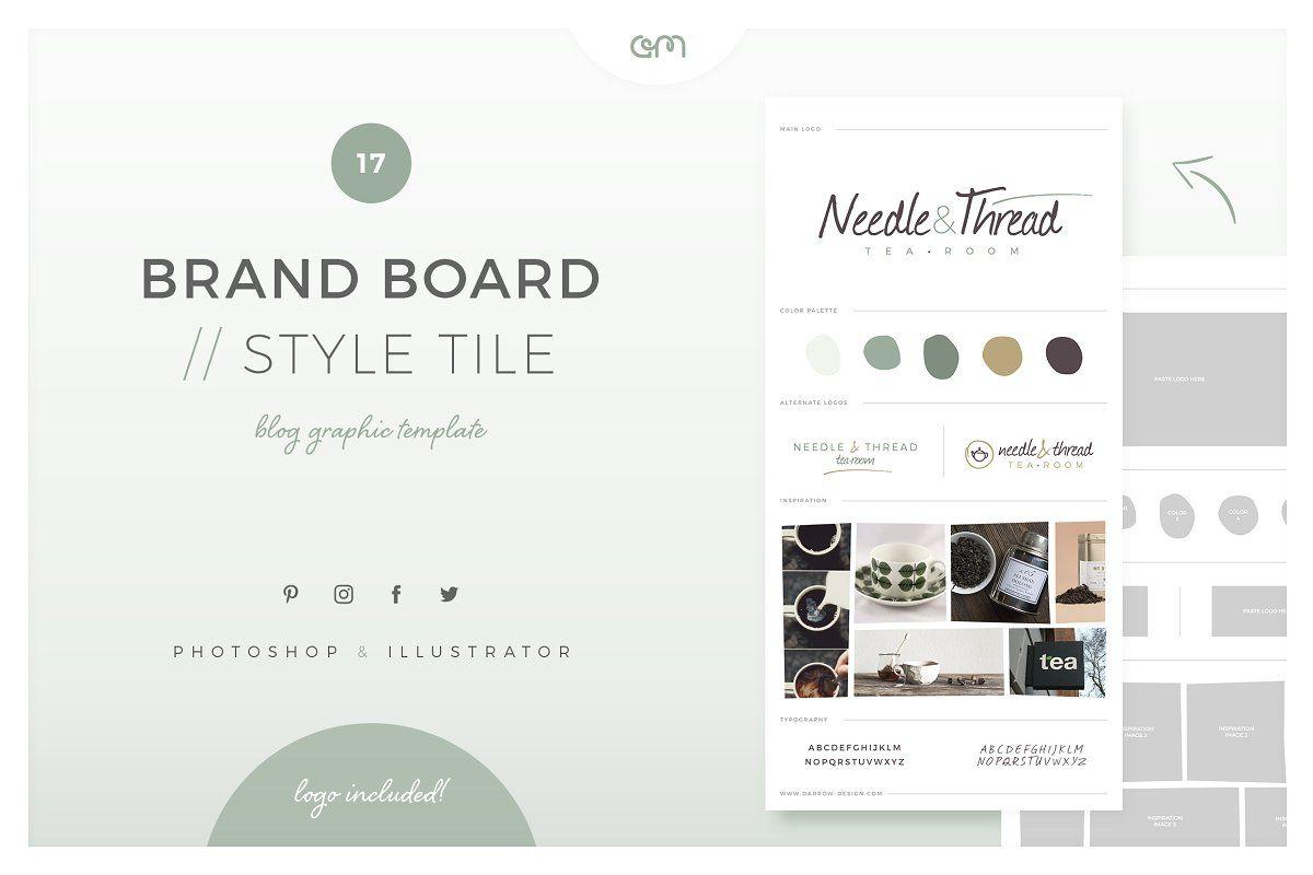 Feminine Mood board Templates Web Elements Creative
