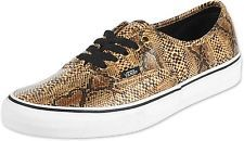 VANS AUTHENTIC SNAKE GOLD SZ MENS 7.5 SHOES NIB ERA SKATE SNAKE SKIN SK8 ERA NEW