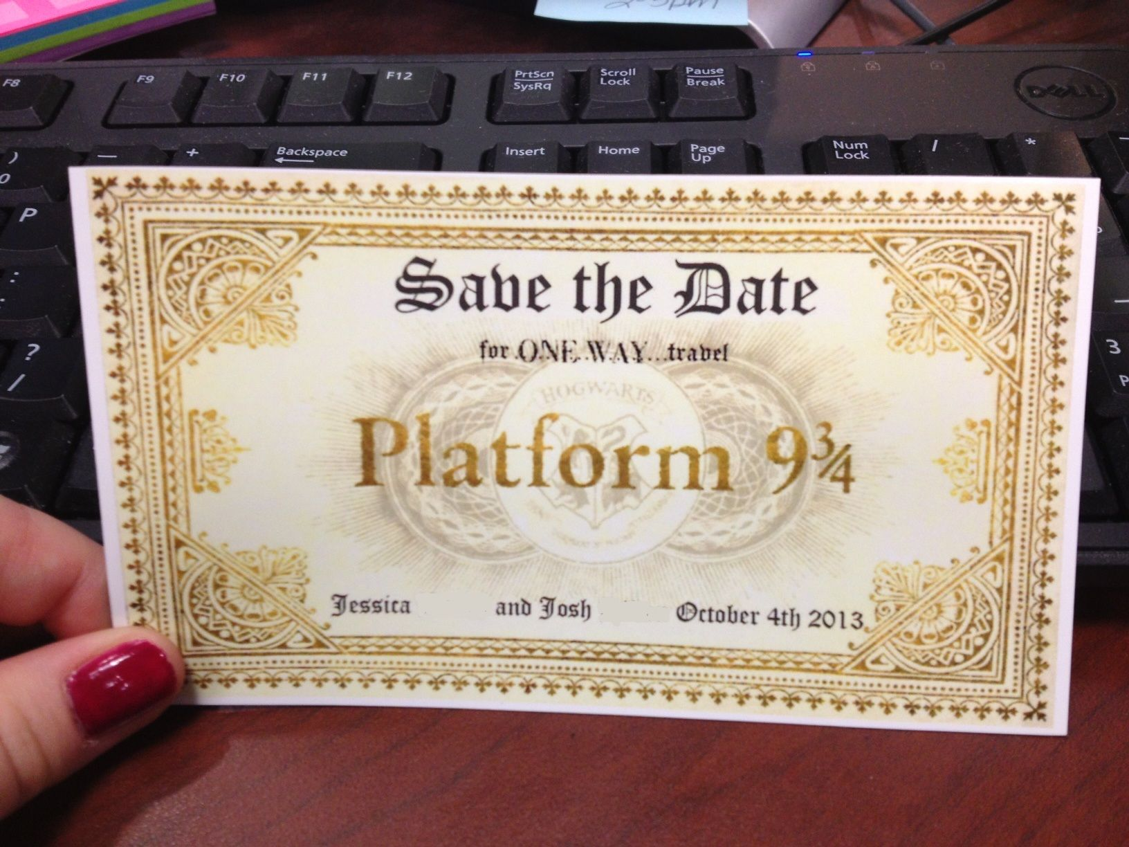 Save the Dates for our Harry Potter inspired wedding! | Harry potter ...
