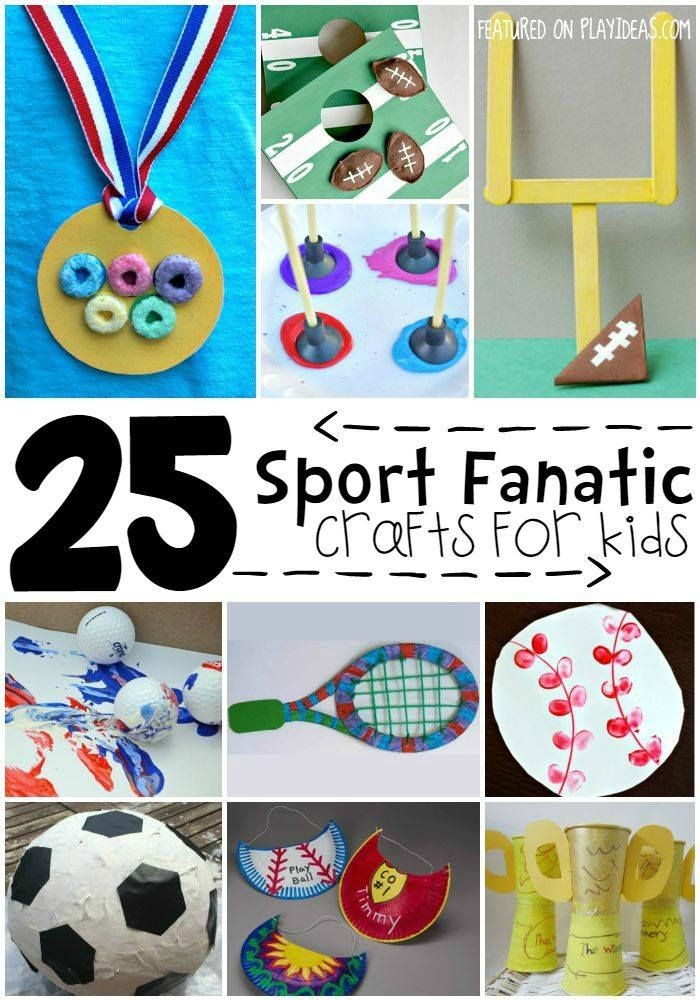 25 Sports Themed Crafts For Kids Sport Themed Crafts Themed Crafts Sports Activities For Kids