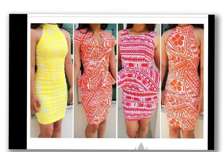 Stunning Samoan tatau pattern dresses that is a must to have . Love it @LaeiPolynesian