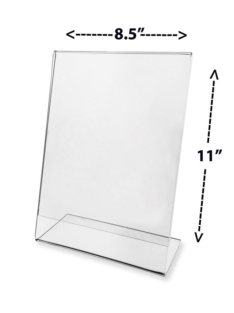 Sign Holder 8 5 X 11 Table Tent Slant Flyer Display Counter Top 6 Pack Acrylic Marketingholders Sign Display Table Tents Clear Picture Frames