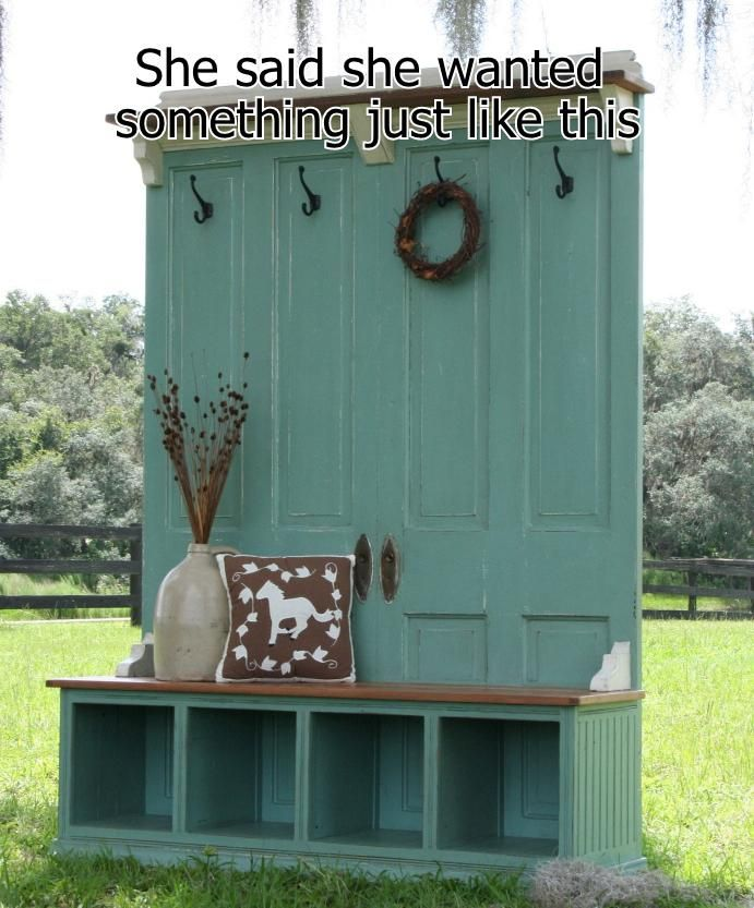 diy hall tree | Upcycled Hall Tree Hodgepodge Funny Pictures Add Funny