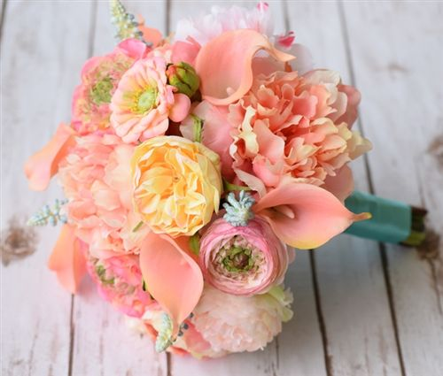 Vintage Boho Style Bouquet Peonies Anemones Callas And Eucalytus Real Touch Silk Wedding Bouquet Peach Peonies Ranunculus Bouquet Wedding Flowers