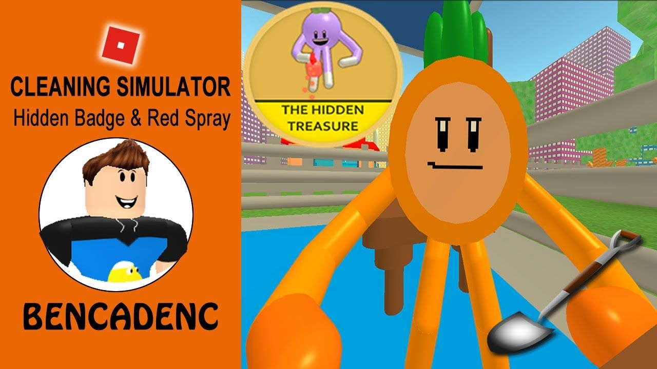 Roblox Cleaning Simulator How To Find Hidden Badge And Magic Red - youtube farming simulator roblox