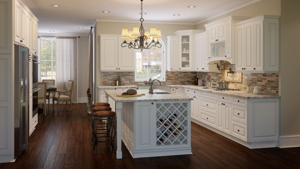 Us Cabinet Depot Torrance White Is A Refreshing Take On The Classic Raised Panel Cabinet Style The Brig New Kitchen Cabinets 10x10 Kitchen Kitchen Renovation