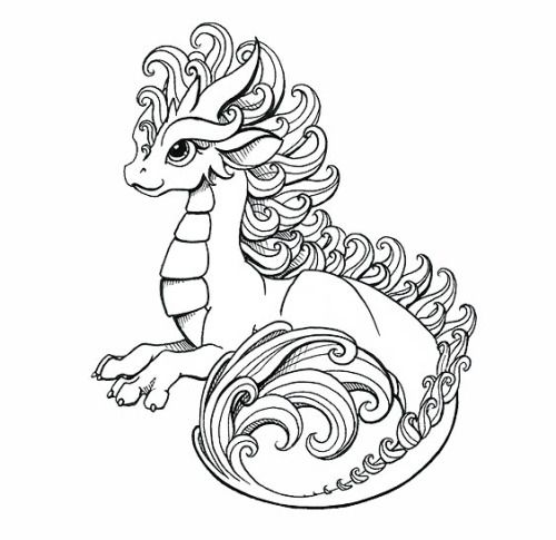 Dragons | coloring pages | Pinterest
