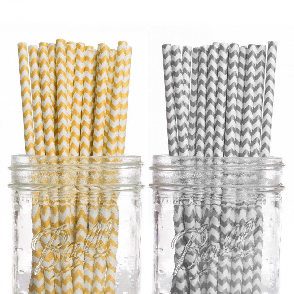 Zebra wedding decorations  Vintage Paper Drinking Straws  Chevron Duo Collection Duo Chevron