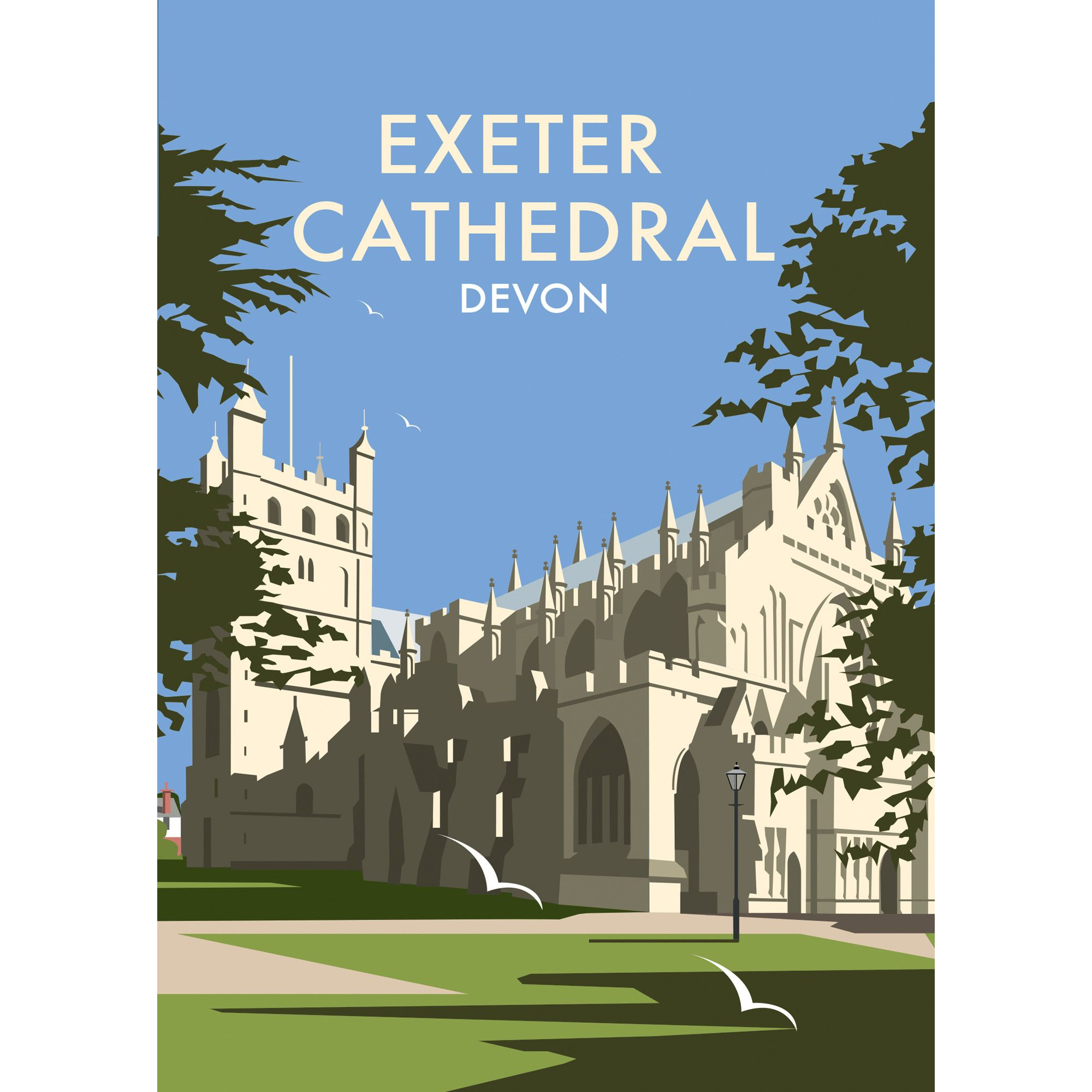 Thompson Travel Uk: Exeter Cathedral, Devon By Dave Thompson Vintage