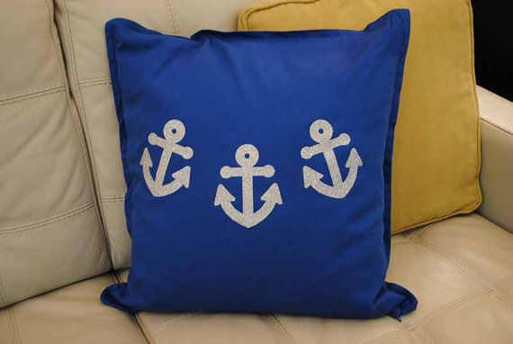 Throw Pillow Cover Glitter Anchors Throw Pillow Decorative Mesmerizing Nautica Pillow Covers