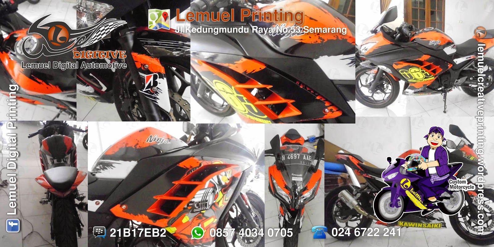 Lemuel Produksi Decal Vinyl Striping Motor Fullbody Kawasaki Ninja