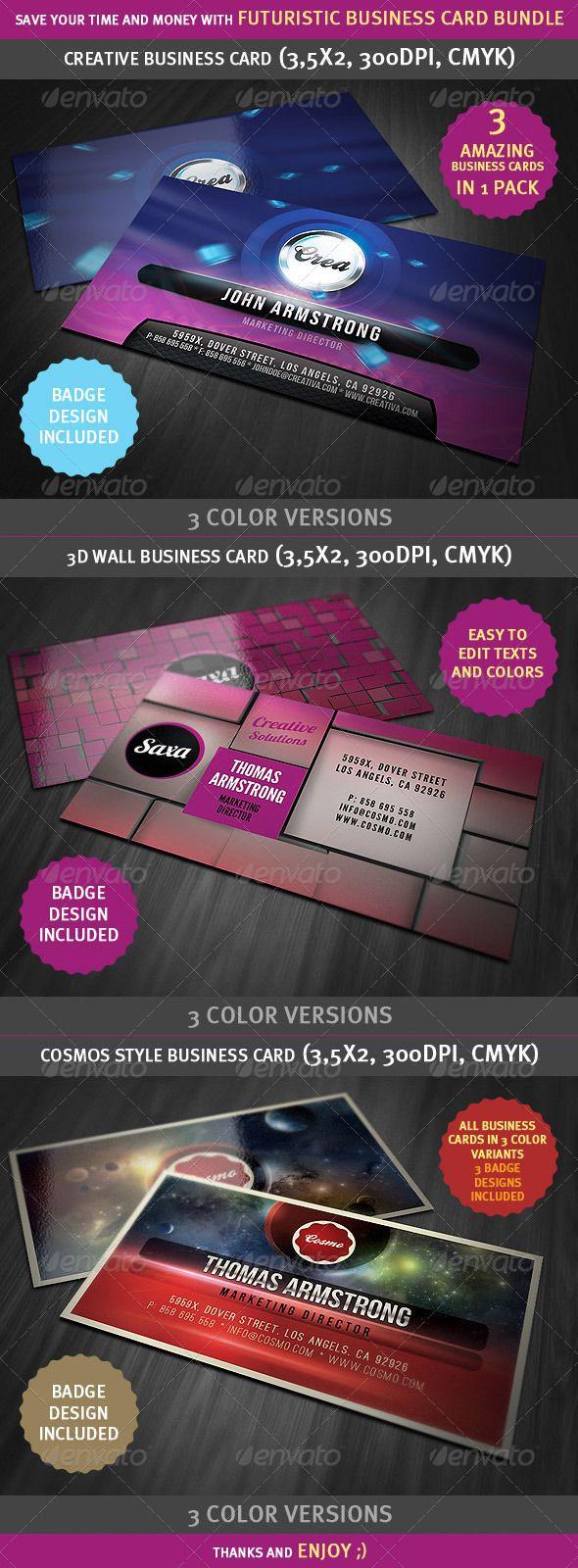 Futuristic And Creative Business Cards Bundle Products I Love