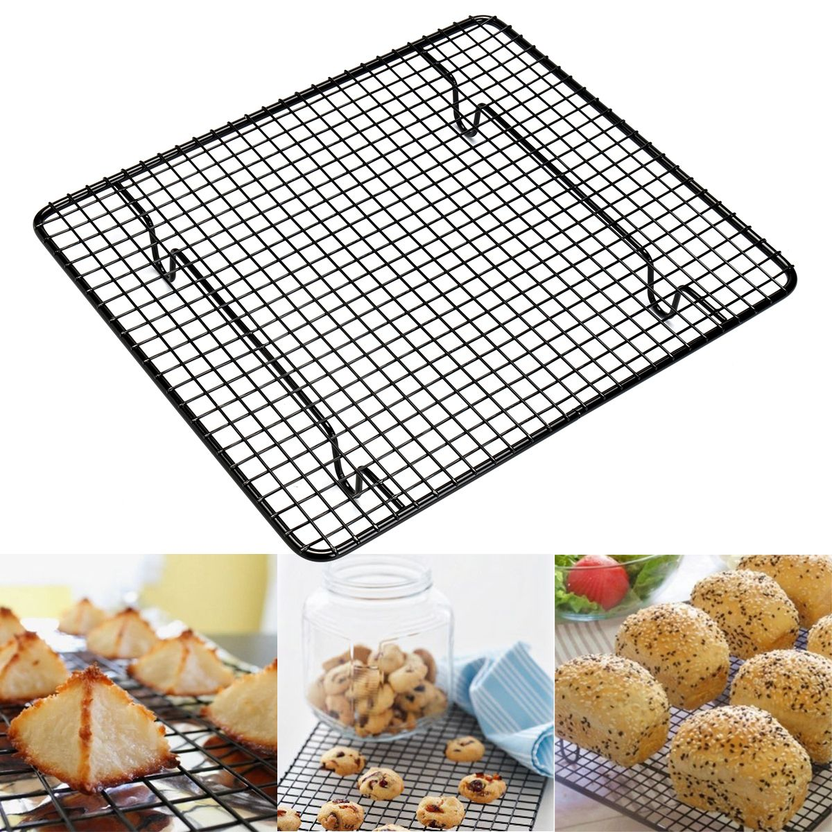 Carbon Steel Cooling Rack Kitchen Baking Wire Pan Cooling Racks BBQ ...