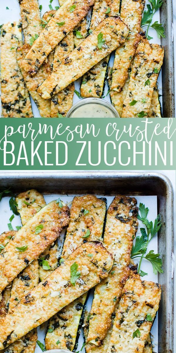 Photo of Parmesan Crusted Zucchini | Oh So Delicioso