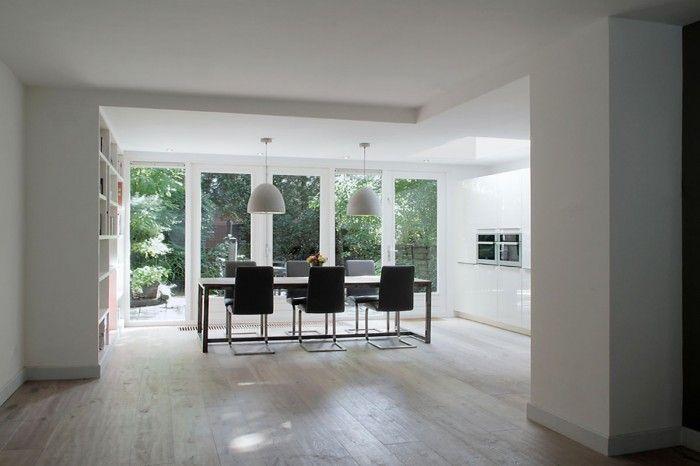 Eiken Keuken White Wash : Witte keuken in aanbouw White wash eiken vloer