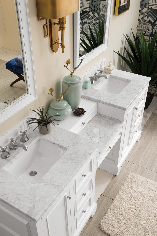 82 De Soto Bright White Double Sink Bathroom Vanity James Martin Vanities Vanitiesdepot Co Bathroom Sink Vanity Master Bathroom Vanity Double Sink Bathroom
