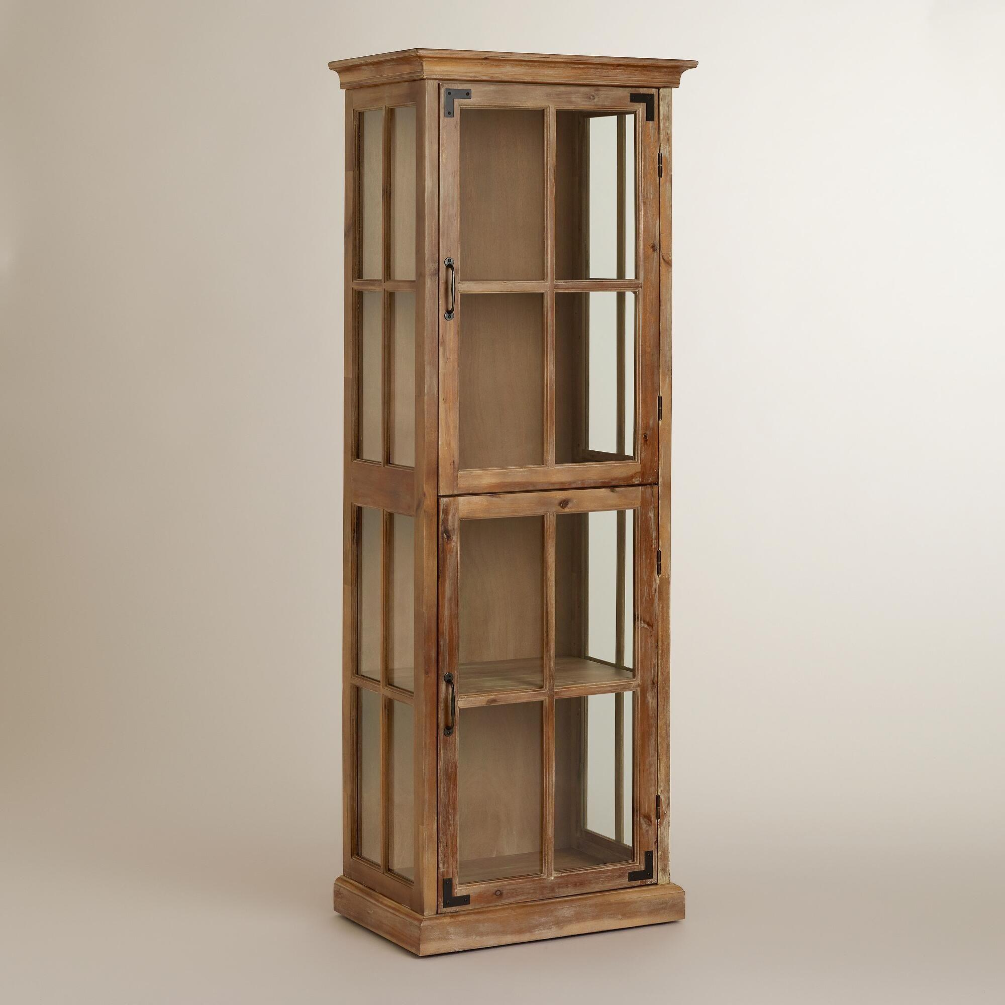 Vaisselier Etroit: Small Narrow Curio Cabinet