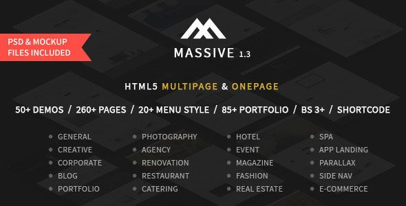Download Massive Responsive Multi Purpose Html5 Template Free Http Traksa Com Massive Responsive Multi Purpose Html5 T Html5 Templates Templates Event App