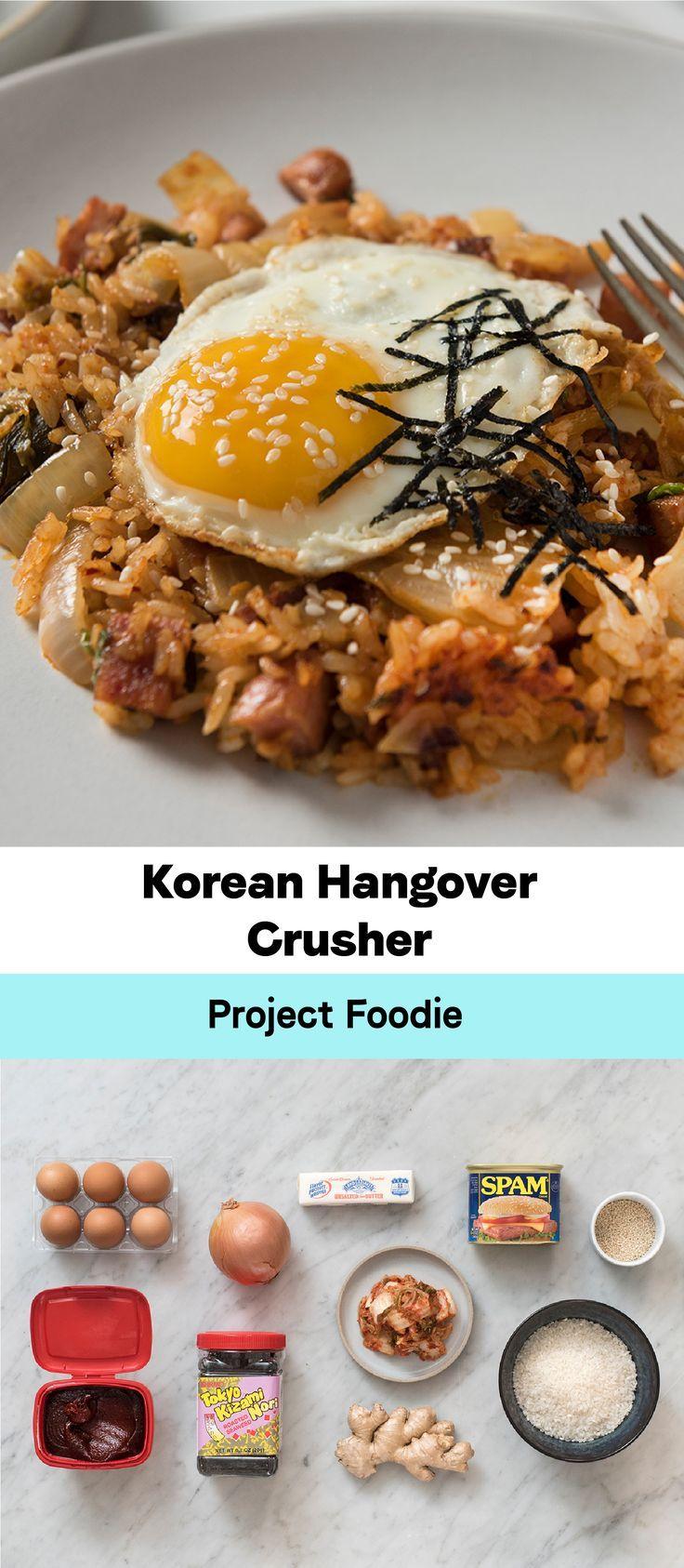 A delicious Friday night dinner and an indulgent midnight snack, this kimchi fri... #fridaynightdinner