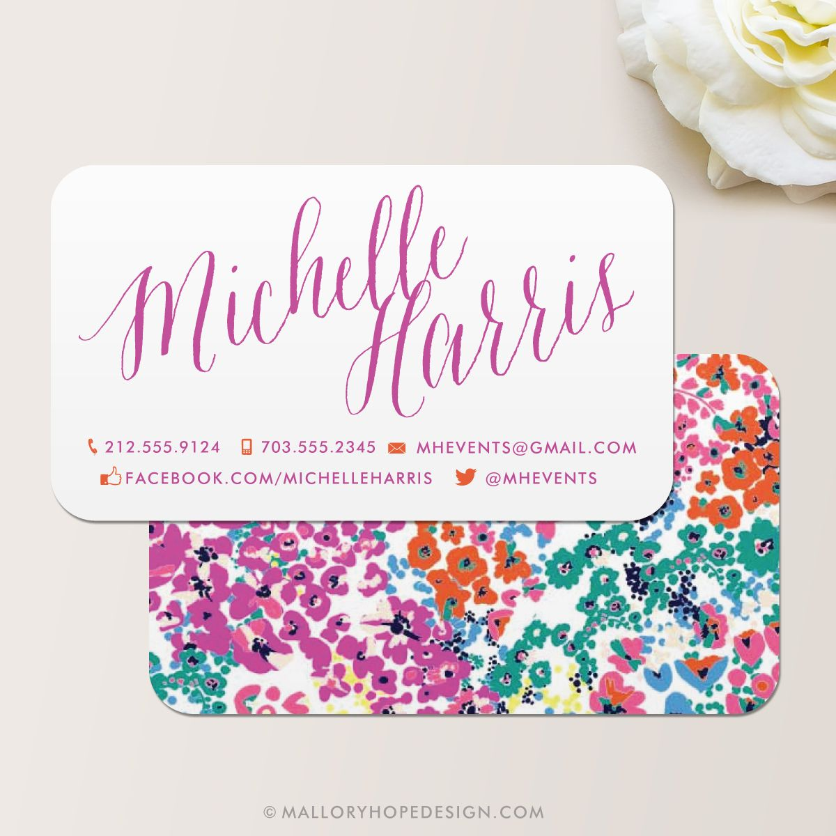 business card floral - Google Search | Career Stuff | Pinterest ...