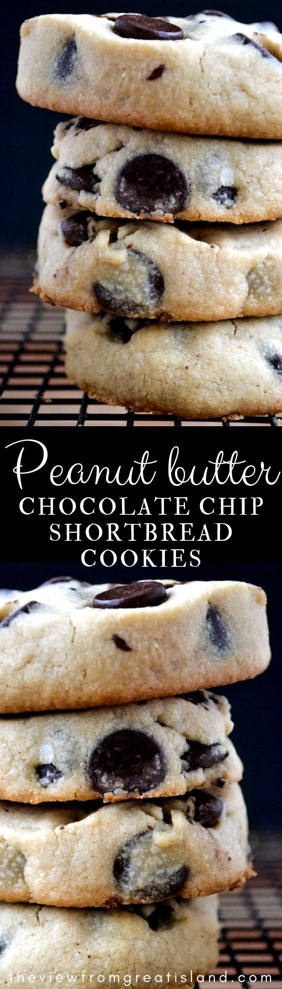 Peanut Butter Chocolate Chip Shortbread Cookies are an easy to make slice and bake chocolate chip cookie recipe with a melt in your mouth texture Peanut Butter Chocolate...