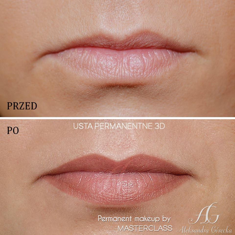 Lips permanent makeup, Aleksandra Górecka, http