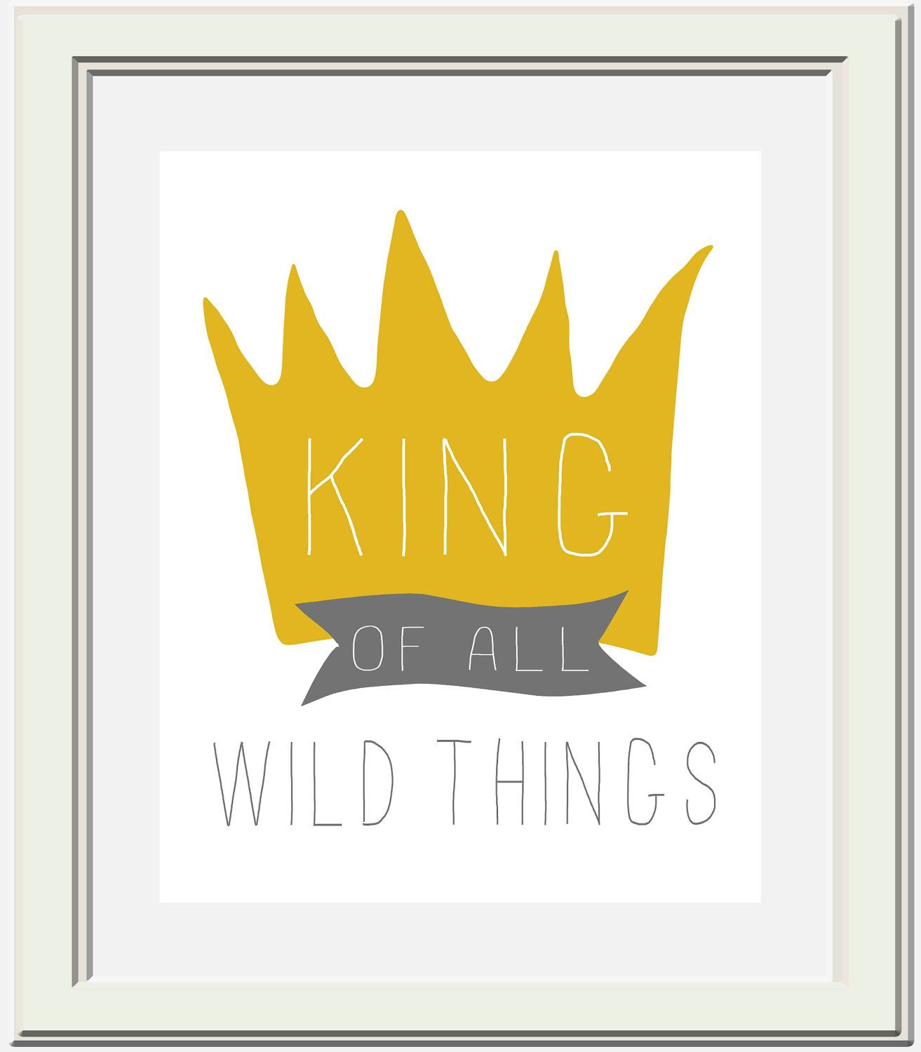 where the wild things are nursery printable king of all wild