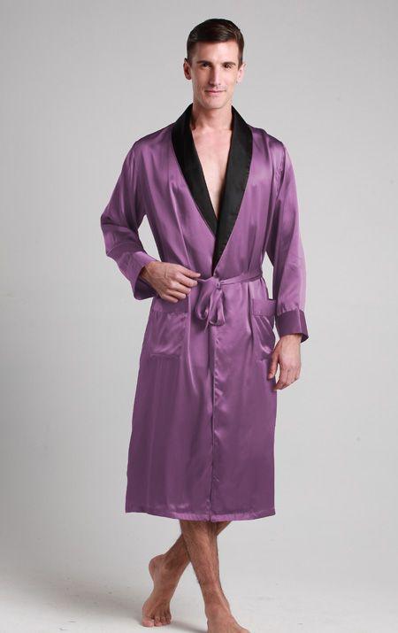 robe de chambre en soie pour homme pyjama homme soie pinterest robe de chambre soie et. Black Bedroom Furniture Sets. Home Design Ideas