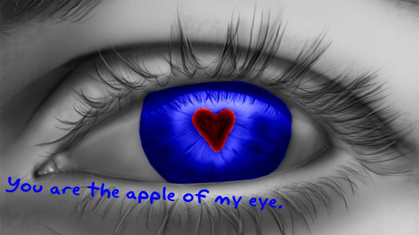 Love Quotes About Eyes Free Download Hd Red Heart In Eye Love