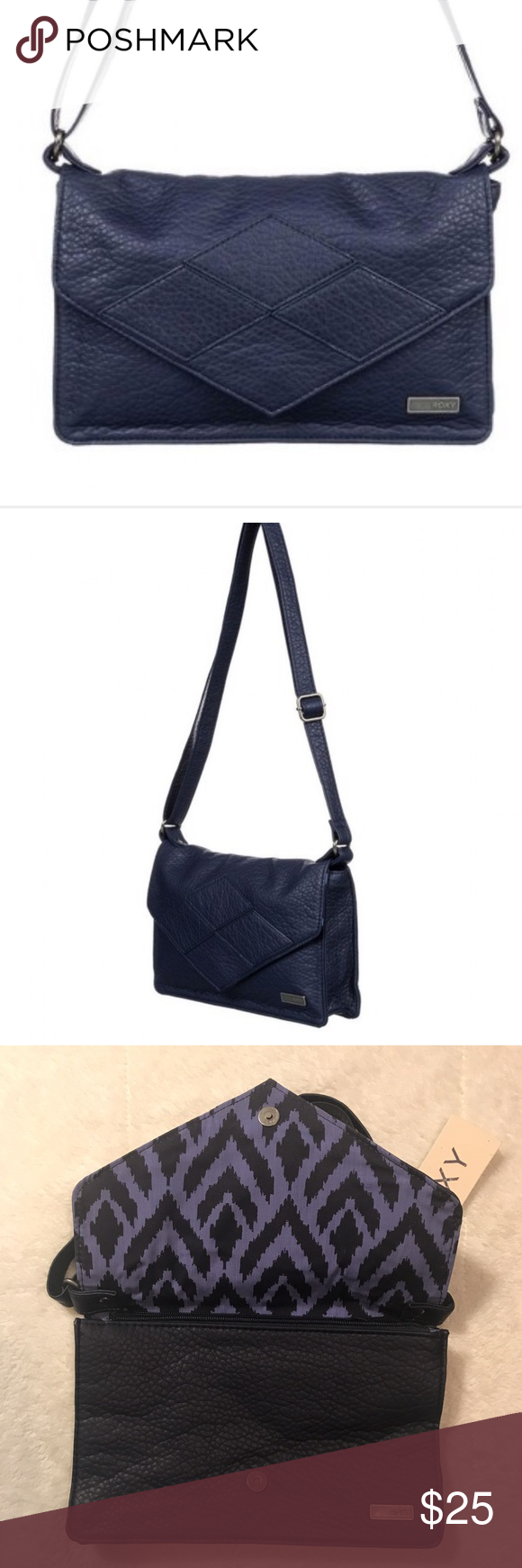 72acc703f Roxy In The Plan Messenger This purse is a sleek flap over style shoulder  bag with