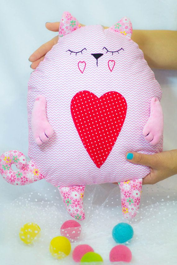 Cat Pillow / Animal Pillow / Neck Pillow / Pet Lover Decor /Animal Decor/ Plushie Pillow / Cat Lover Gift / Stuffed Pillow / Gift For Kids