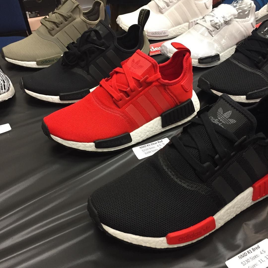 NMD Bred Clear Red Bk/TC Trace Cargo today at HellaKicks2 Primeorders.com #