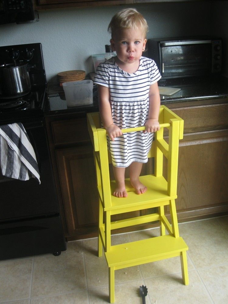 Diy Learning Tower With Ikea Bekv 196 M Step Stool Ideas For