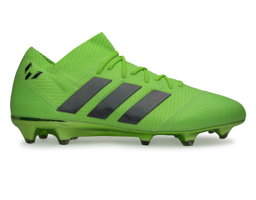 2744a10eb18 adidas Men s Nemeziz Messi 18.1 FG Solar Green Core Black