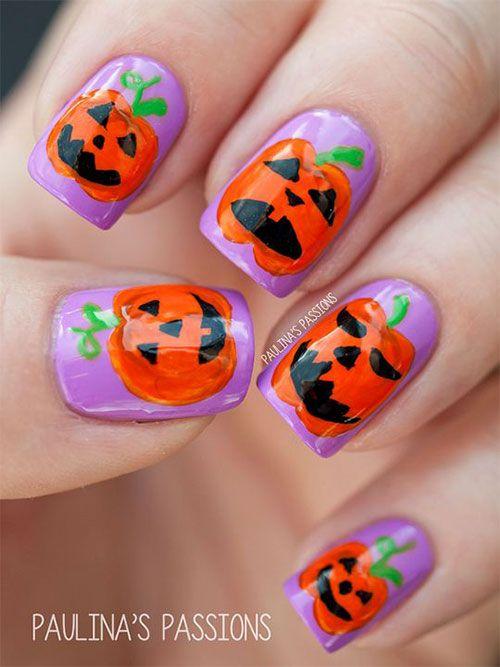 Halloween Pumpkin Nail Art Halloween Pumpkin Nail Art Pinterest