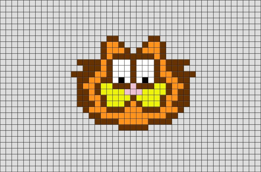 Garfield Pixel Art Pixel Art Pixel Art Design Art