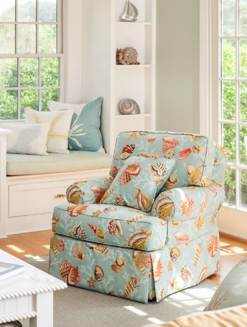 Best Coastal Pattern On A Sofa Chair Http Www Completely 400 x 300