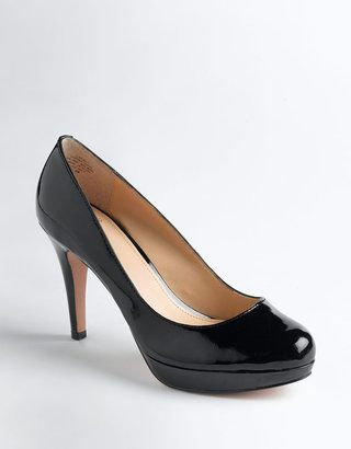 CIRCA JOAN & DAVID Pearly Patent Platform Pumps (Low)