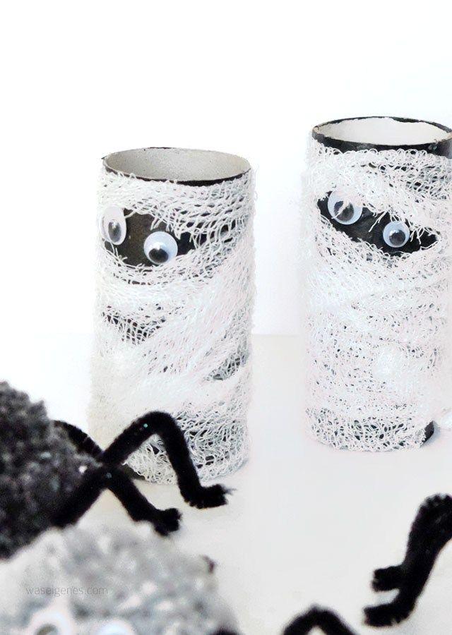 diy halloween deko dosen gespenster toilettenpapier. Black Bedroom Furniture Sets. Home Design Ideas