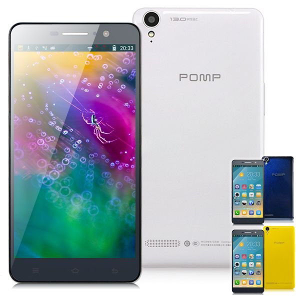 """POMP C6S 5.5"""" IPS 1920x1080 Android 4.2 MTK6592 Octa-Core 1.7GHz 2GB 3G Smartphone w/ 13.0MP, 7.7mm Ultra Slim Body (2G + 32G) - Assorted Color"""