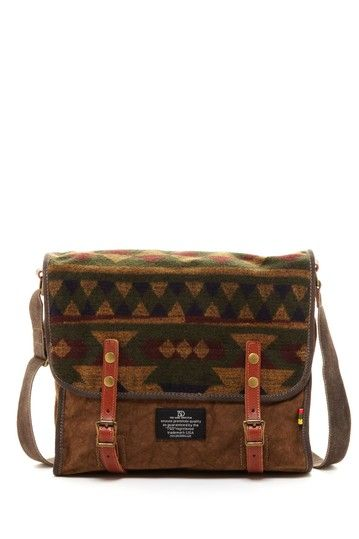 [ ] Love Stitch Single Flap Aztec Messenger Bag
