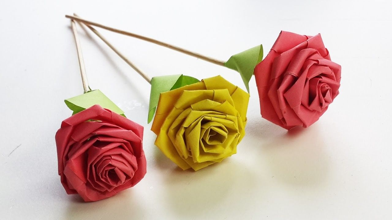How To Make Rose With Paper Strip Quilling Rose Diy Paper Craft Paper Crafts Diy Paper Quilling For Beginners How To Make Rose