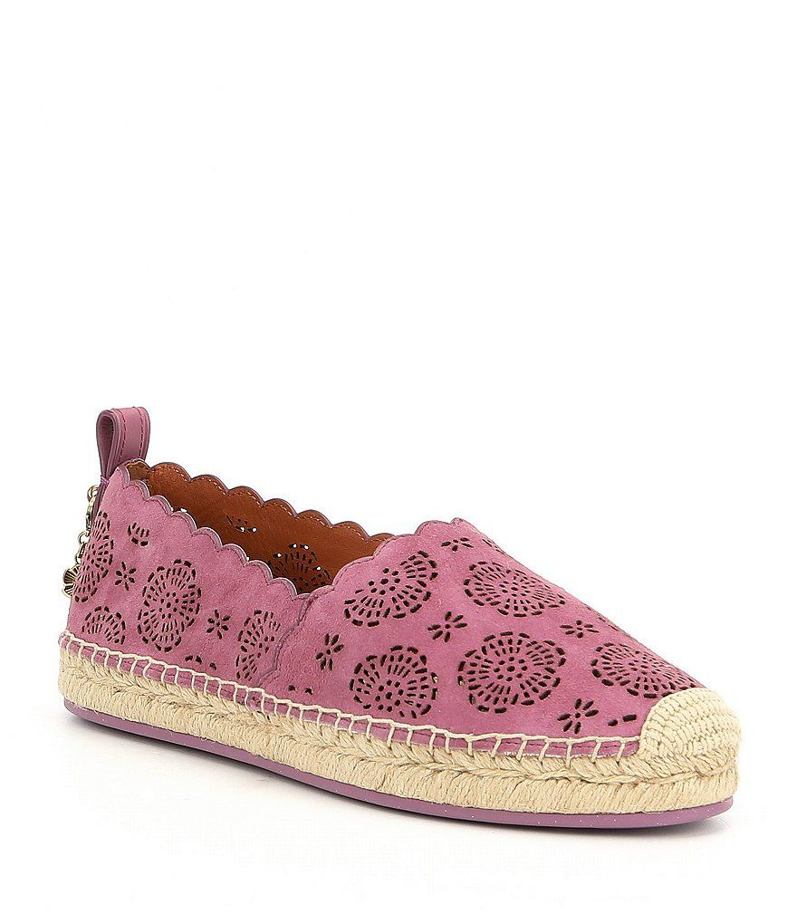 COACH ASTOR ESPADRILLES WITH CUT OUT TEA ROSE 2LLkwhr