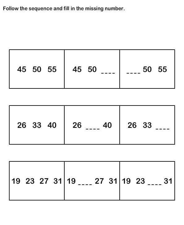 Number Sequence Worksheetsmath Worksheets Kindergarten Worksheets