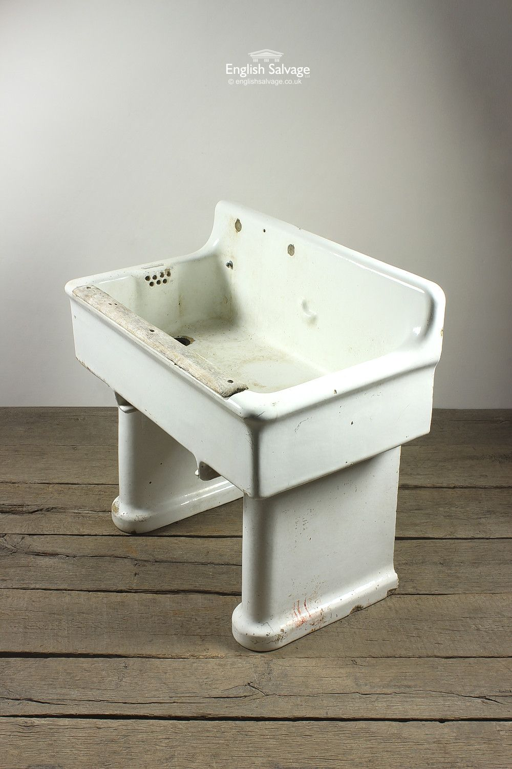 Salvaged Belfast Sink on Legs | Bathrooms/ showers, toilets, tubs ...